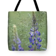 Wild Lupine Flower Tote Bag