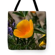 Wild Poppy And Lupine Tote Bag