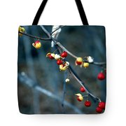 Wild Red Berries Out Of The Shell Tote Bag