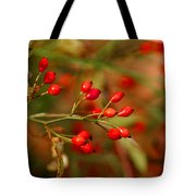 Wild Red Berry Reflections Tote Bag