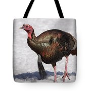 Wild Turkey In The Snow Tote Bag