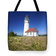 Wildflowers And Cape Blanco Lighthouse Tote Bag