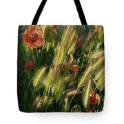 Wildflowers And Grass Tufts In Provence Tote Bag