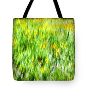 Wildflowers And Wind Tote Bag