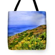 Wildflowers At Point Loma Tote Bag