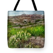 Wildflowers In Badlands Tote Bag