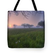 Wildflowers On A Foggy Pasture Tote Bag