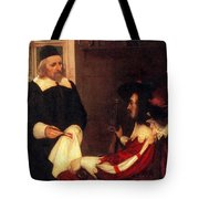 William Harvey Demonstrating Circulation Tote Bag