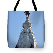 William Penn - On Top Of City Hall Tote Bag by Bill Cannon
