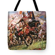 William The Conqueror At The Battle Of Hastings Tote Bag