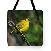Wilsons Warbler In Song Tote Bag