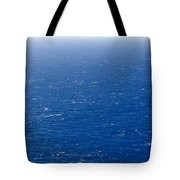 Wind Creates White-capped Waves Tote Bag