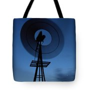 Windlill At Night Tote Bag