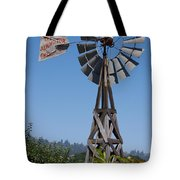 Windmill Blue Sky Tote Bag