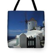 Windmill Greek Islands Tote Bag