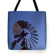 Windmill In Blue  Tote Bag