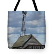 Windmill In The Storm Tote Bag