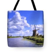 Windmills In Holland Tote Bag