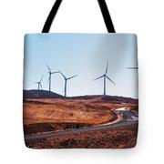 Windmills Near El Chorro Tote Bag