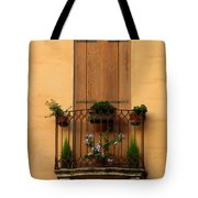 Window And Balcony In Vicenza Tote Bag