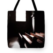 Window And Pews Tote Bag
