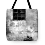 Window And Sidewalk Bw Tote Bag