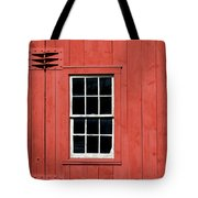 Window In Red Wall Tote Bag