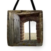 Window Of A Derelict House Overlooking Field Tote Bag