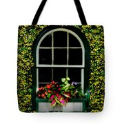 Window On An Ivy Covered Wall Tote Bag