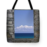 Window View At Fayette State Park Michigan Tote Bag