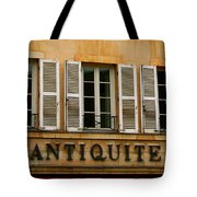 Windows Of Antiquites Tote Bag