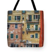 Windows Of Camogli Tote Bag