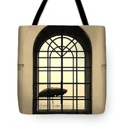 Windows On The Beach In Sepia Tote Bag