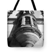 Windows On The Dakota In Black And White Tote Bag