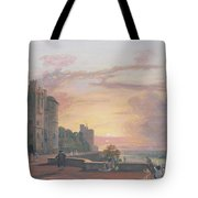 Windsor Castle North Terrace Looking West At Sunse Tote Bag