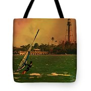Windsurfer In Paradise Tote Bag