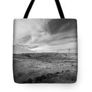 Windswept Hills Bw Tote Bag