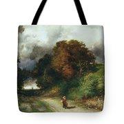 Windy Hilltop Tote Bag by Thomas Moran