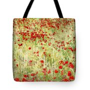 Windy Poppies Tote Bag