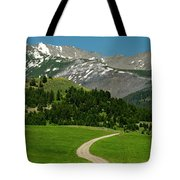 Windy Road To The Crazy Mountains Tote Bag