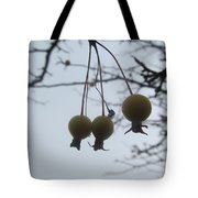 Windy Yellow Holly Berry Two Tote Bag