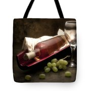 Wine With Grapes And Glass Still Life Tote Bag