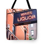 Wines And Spirits Sign Tote Bag