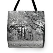 Winter At The Edge Of The Woods Tote Bag