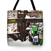 Winter Butterflies Tote Bag