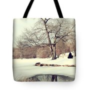 Winter Day In The Park Tote Bag