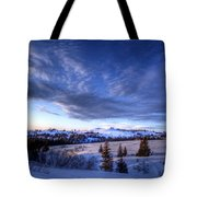 Winter Evening Clouds Tote Bag