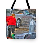 Winter Fest Ice Sculpting Tote Bag