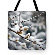 Winter Fleurs Tote Bag
