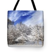 Winter Forest Covered With Snow Tote Bag